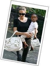 Angelina Jolie White Valentino Bag