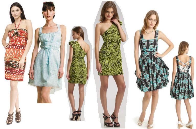 Best Spring &amp Summer Dresses 2010: Lingerie Floral Tribal Chic