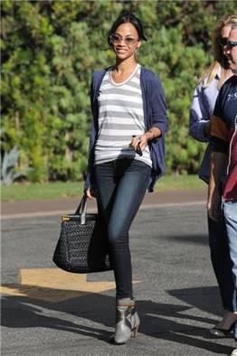 J Brand Jeans Zoe Saldana