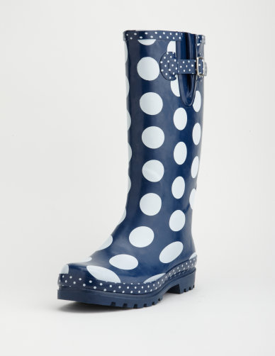 Best Cheap Chic Rainboots Patterned Laced And Dotted Magnificent Patterned Rain Boots