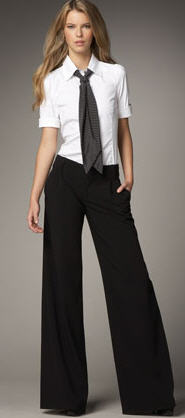 Alice Olivia Erica Wide Leg Pants
