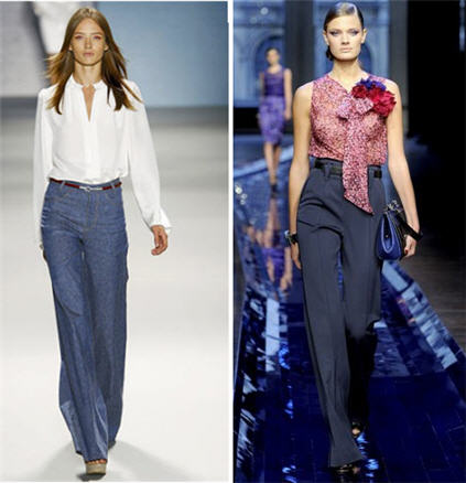 Wide leg pants and wide leg trousers trend