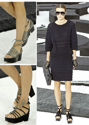 CHANEL Spring 2011 Platform Wedges