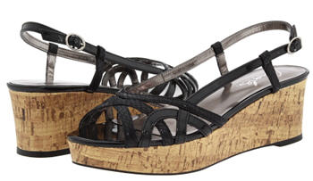 Charles David Ticks Platfrom Wedges Black
