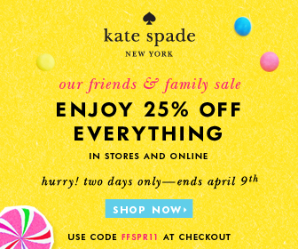 25 off Kate Spade Friends Family Discount