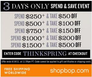 shopbop sale coupon code