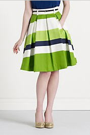 Kate Spade Striped Lilith Skirt Sale
