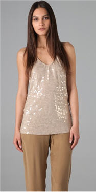 Club Monaco Sequin Top