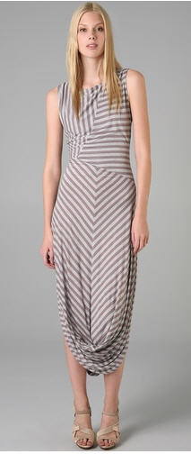 LAMB MAXi Dress with twist hem