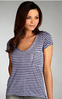 Splendid Distressed Stripe Tee