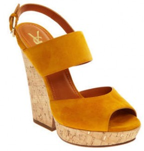 Yves Saint Laurant Cork Wedge Sale