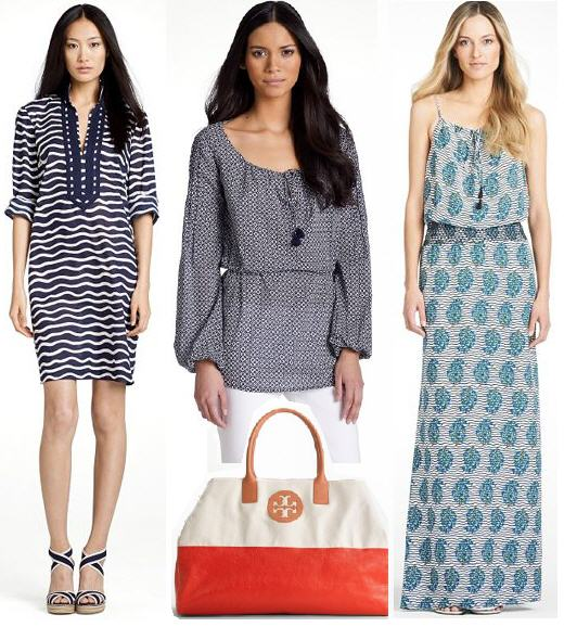 Tory Burch sale collage