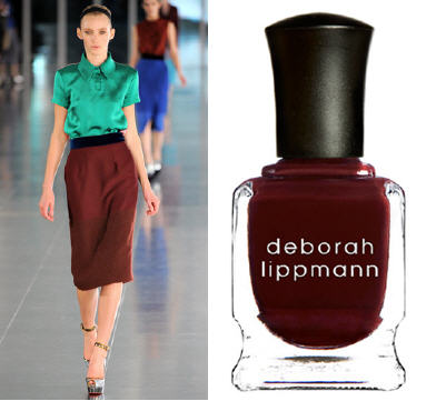 Fall 2011 trends nail polish maroons