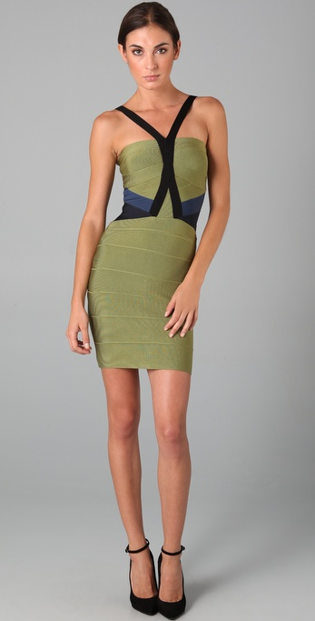 Kate Winslet Miracle Dress - Color Block Herve Leger Dress