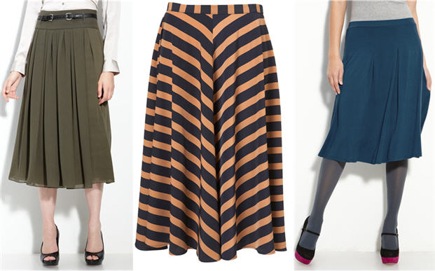 Midi Skirt Trends Fall 2011