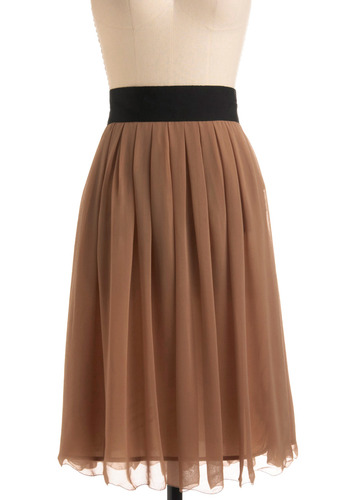 Midi Hot Caramel Skirt