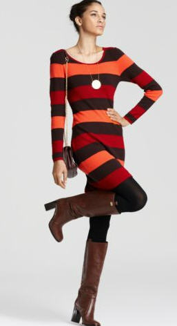 Sweater Dress Milly Knit Ashley Stripe