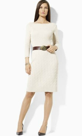 Sweater Dress Ralp Lauren Cream