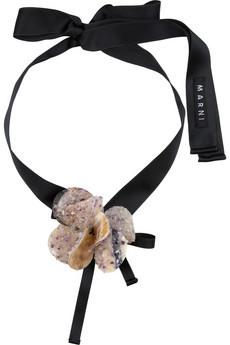 Marni amethyst and horn bead cuff