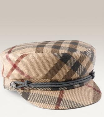 Burberry Check Print Duffle Cap