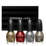 Glitter and Sparkle Four Piece Full Size Nail Colour Set