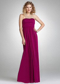 Davids bridal fuchia prom dress
