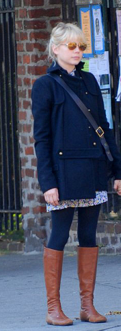 Michelle Williams Blue Jacket