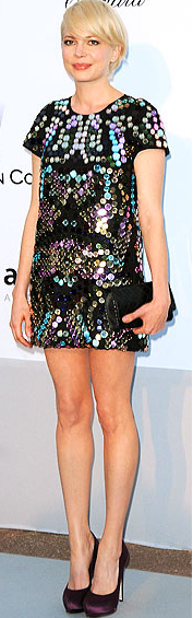 Michelle Williams Sparkle Dress