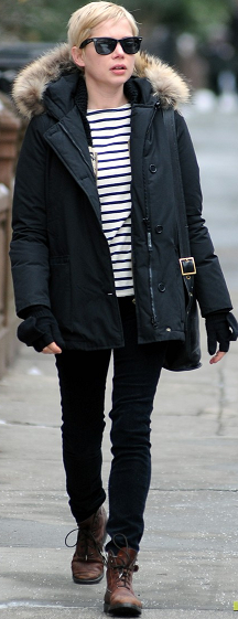 Michelle Williams Parka Jacket