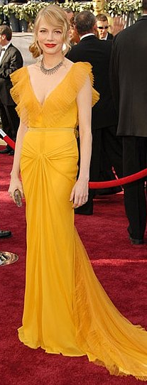 Michelle Williams Yellow Dress