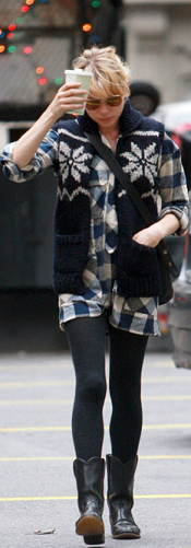 Michelle Williams Plaid
