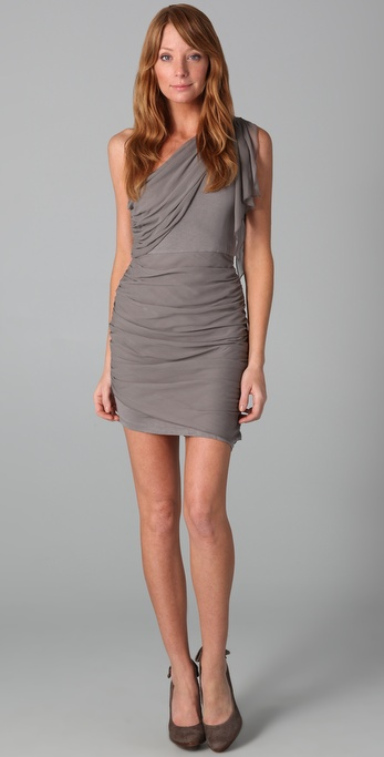 Alice Olivia One Shoulder Draped Dress