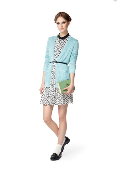 Jason Wu for target blue belted cardigan