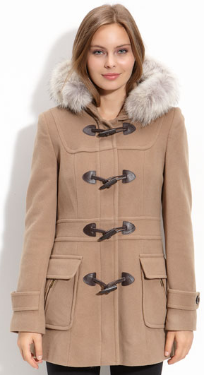 Marc New York 'Charm' Fur Trim Hooded Coat