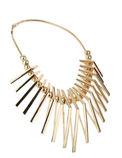 TRIANGLE METAL COLLAR NECKLACE