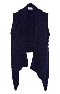 M.PATMOS Draped merino wool vest