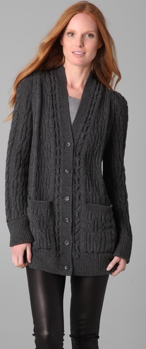 MM6 x Opening Ceremony  Cable Knit Cardigan Sweater