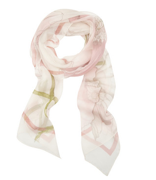 SALVATORE FERRAGAMO Printed silk-chiffon scarf