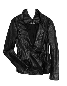 THEYSKENS' THEORY Juno asymmetric leather jacket