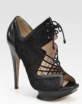 Nicholas Kirkwood Platform Calf Hair Stiletto Sandals