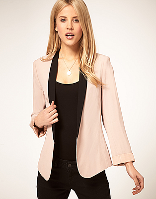 ASOS Blazer With Contrast Lapel