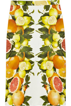 STELLA MCCARTNEY Citrus-print cotton skirt