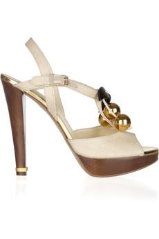 STELLA MCCARTNEY Tatami woven-straw sandals 2012