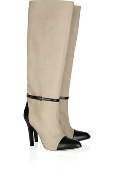 STELLA MCCARTNEY Avedon faux suede and leather knee boots