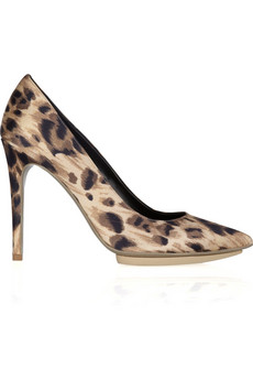 STELLA MCCARTNEY Foster Leo animal-print satin pumps