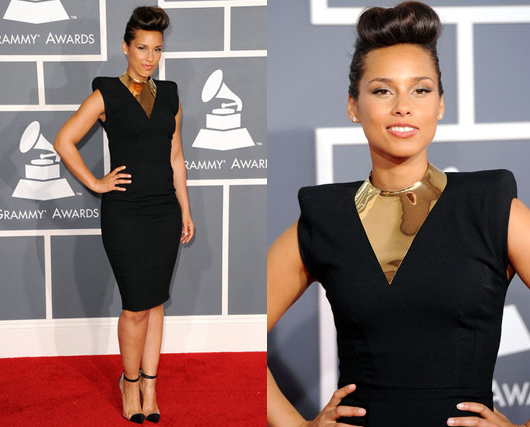 Alicia Keys Grammy 2012 in Alexandre Vauthier Dress