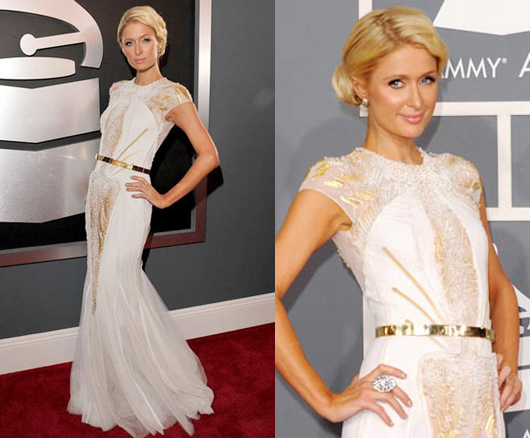 Paris Hilton Grammy 2012 Basil Soda Dress