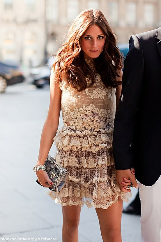 Olivia Palermo in Lace Dress