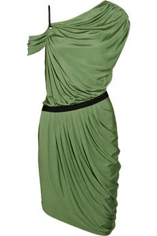 CATHERINE MALANDRINO Asymmetric ruched silk-jersey dress