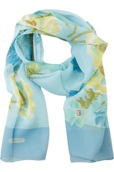 SALVATORE FERRAGAMO Floral-print silk-chiffon scarf